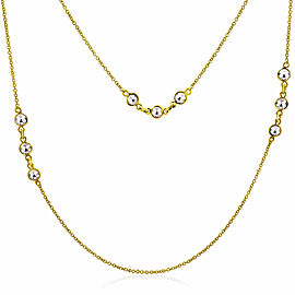 "Rock & Divine Dawn Collection Spring River 36"" Necklace 18KT Yellow Gold 1.1 CTW"