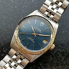 Mens Tudor Prince Oysterdate 74033 34mm 18K & SS Date Automatic, c.1990s LV714