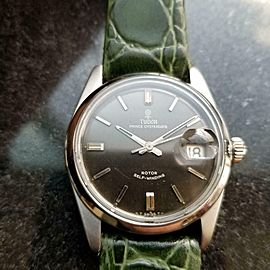 Mens Tudor Prince Oysterdate Ref.7996 34mm Automatic w/Date, c.1960s LV606GRN
