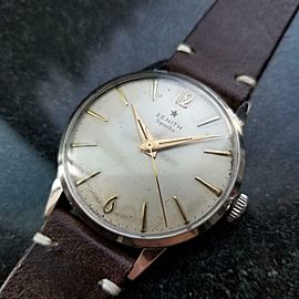 Mens Zenith Sporto 35mm cal.120 hand-Wind Dress Watch, c.1960s Vintage LV869