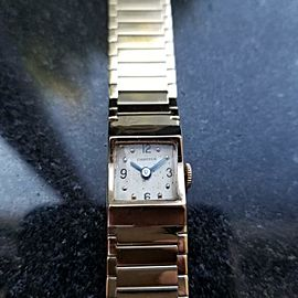 Ladies Cartier J. Schulz 14mm 14k Gold Cocktail Dress Watch, c.1920s Swiss MA104