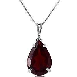 5 CTW 14K Solid White Gold Place Me Garnet Necklace