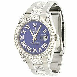 Rolex Datejust 36mm Watch w/7.1ct Diamond Bezel/Lugs/Bracelet/Roman Diamond Dial