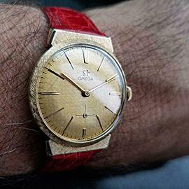 Mens Omega ref.N6592 33mm 14k Gold Hand-Wind Dress Watch, c.1950s Swiss LV946RED