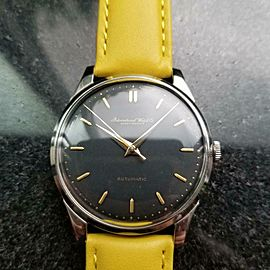 Mens IWC Schaffhausen 35mm 21J Automatic Dress Watch, c.1960s Vintage R785YEL