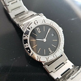 Ladies Bvlgari Diagono BB 26 SS 26mm Date Quartz Dress Watch, c.2000s JAC13