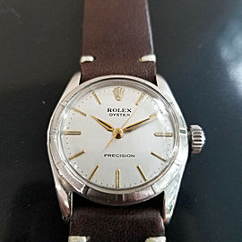 Mens Midsize Rolex Oyster Precision 30mm Hand-Wind Dress Watch, c.1960s MA185