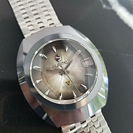 Mens Rado Balboa Great 36mm Tungsten Date Automatic, c.1960s Vintage Swiss NR8