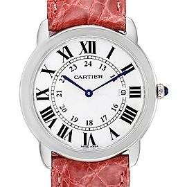 Cartier Ronde Solo Pink Strap Large Unisex Watch W6700255 Box Papers