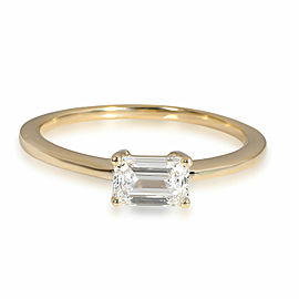 GIA Certified Emerald Cut Diamond Ring in 14K Yellow Gold (0.61 ct F/SI1)