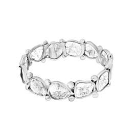Rock & Divine Dawn Collection Luminary Diamond Eternity Ring in 18K White Gold
