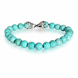 David Yurman Turquoise Spiritual Beads Bracelet in Sterling Silver