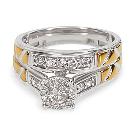 Diamond Engagement Bridal Set in 10KT Gold 0.60 ctw