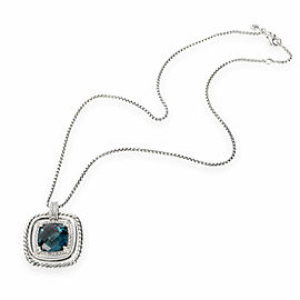 David Yurman Chatelaine Pendant with Topaz & Diamond in Sterling Silver 0.41 CTW