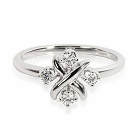 Tiffany & Co. Schlumberger Lynn Diamond Ring in Platinum 0.2 CTW