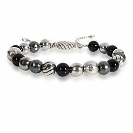 David Yurman Hematite & Black Onyx Spiritual Beads Bracelet in Sterling Silver