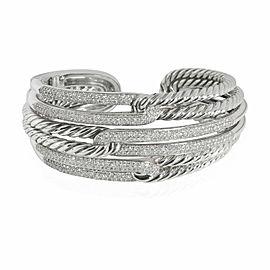 David Yurman Labyrinth Diamond Bangle in Sterling Silver 2.72