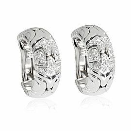 Bulgari Spiga Diamond Earring in 18K White Gold 0.45