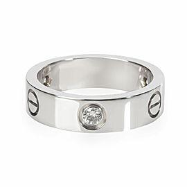 Cartier Love Diamond Ring in 18K White Gold 0.22