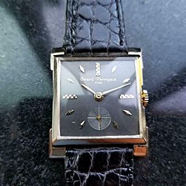 Unisex Midsize Girard Perrgaux 14k Solid Gold 1960s 27mm Manual Vintage LV703