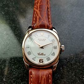 Ladies 18k Solid Rose Gold Rolex Cellini Danaos ref.6229 24mm Dress Watch LV706