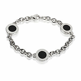 Bulgari Bvlgari Elements Onyx Bracelet in 18K White Gold