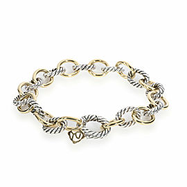 David Yurman Cable Oval Link Bracelet in 18K Yellow Gold/Sterling Silver