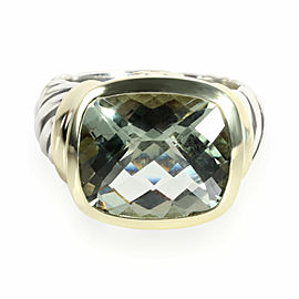 David Yurman Noblesse Prasiolite Ring in 14K Yellow Gold/Sterling Silver