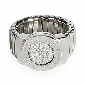 Bulgari Bvlgari Bvlgari Diamond Ring in 18K White Gold 0.2