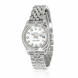 Rolex Datejust 179384 Women's Watch in 18kt Stainless Steel/White Gold