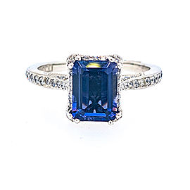 Tacori 18k White Gold Iolite, Diamond Ring