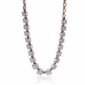 Effy Chalcedony & Rhodolite Garnet Necklace in 14K Rose Gold 67.00 ctw