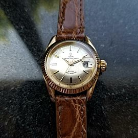 Ladies Tudor Princess Oysterdate 1960s 18k Solid Gold 7982 25mm Automatic MS195