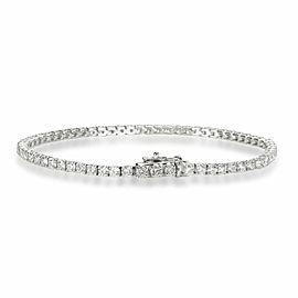 Four Prong Diamond Tennis Bracelet in 14K White Gold