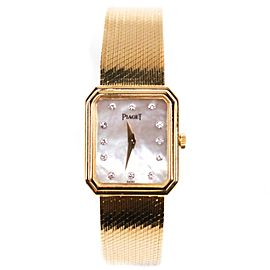 Piaget - Diamond Gold Watch - Square Mother of Pearl Face - 22 mm Ladies