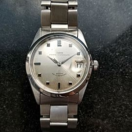 Mens Tudor Prince 1960s Oysterdate 7996 34mm Date Automatic Swiss Vintage LV778