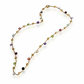Marco Bicego Paradise Mix Gemstone Necklace in 18K Yellow Gold