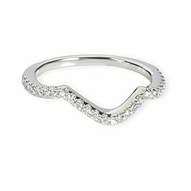 Blue Nile Curved Diamond Wedding Band in 14K White Gold 0.17 CTW