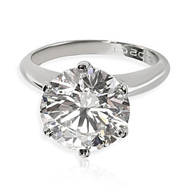 Tiffany & Co. Solitaire Diamond Engagement Ring in Platinum D VS1 5.02 CT