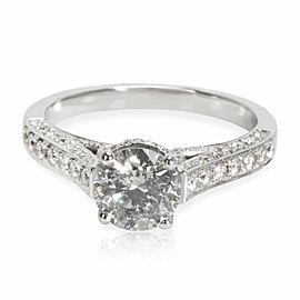 IGI Certified Diamond Engagement Ring in 18K White Gold 1.59 CTW