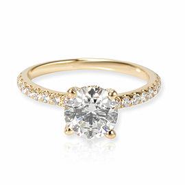 James Allen Diamond Engagement Ring in 14K Yellow Gold GIA G VS1 1.49 CTW