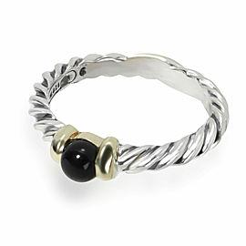 David Yurman Cable Onyx Fashion Ring in Sterling Silver Black
