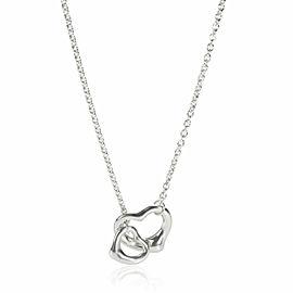 Tiffany & Co. Elsa Peretti Open Heart Lariat Necklace in Sterling Silver