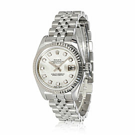 Rolex Datejust 179174 Women's Watch in 18kt Stainless Steel/White Gold