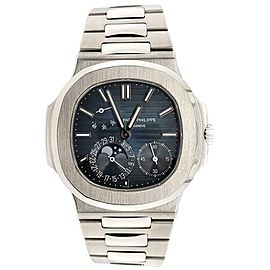 Patek Philippe Nautilus Moohphase 40mm Blue Dial Steel Watch Box Papers 2013