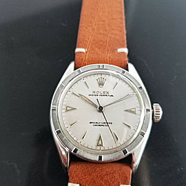 Mens Rolex Oyster Perpetual Ref 6103 34mm Automatic c1950s Swiss Vintage RA154