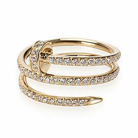 Cartier Juste un Clou Diamond Ring in 18K Yellow Gold 0.59 CTW