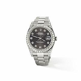 Rolex Datejust II 41mm 4.5CT Diamond Bezel/Lugs/Rhodium Grey Dial