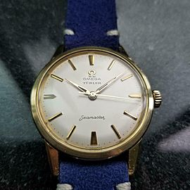 Omega Seamaster Turler Dial 1960s 35mm Gold Capped Manual Wind Swiss LV826BLU