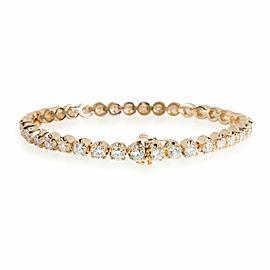 Diamond Tennis Bracelet in 14K Yellow Gold 6.30 CTW